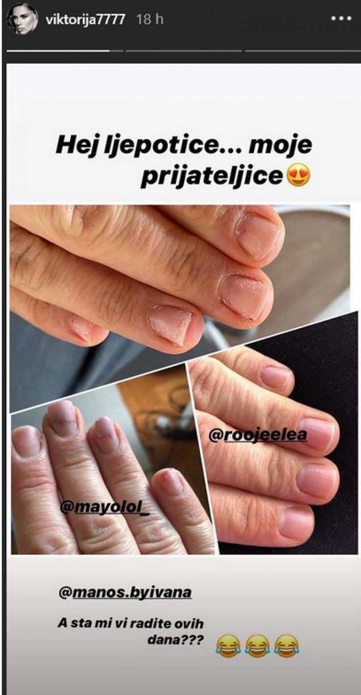 Uništeni nokti Viktorije Rađe i njenih prijateljica