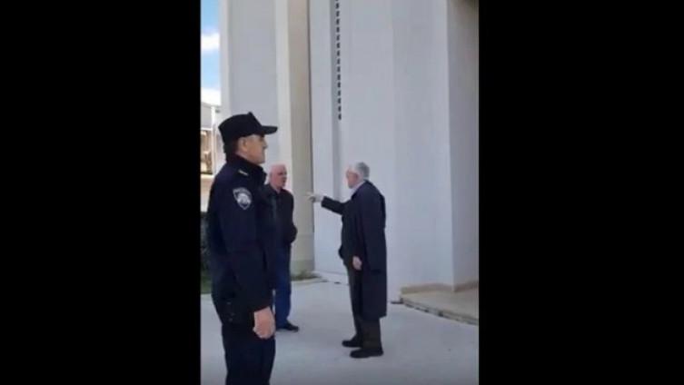 Dolazak policije se nije svidio župniku Delašu