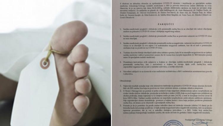 Udruženje sudskih medicinara u BiH uputilo svoje zahtjeve