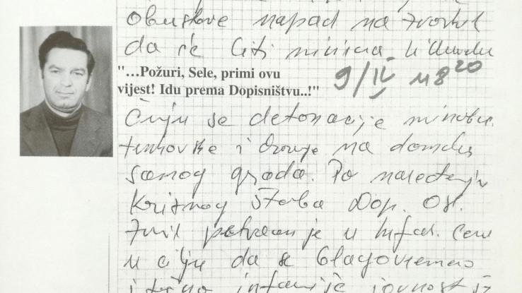 Smajlović pisao posljednji izvještaj prije nego što su ga ubili