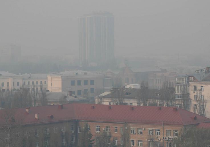 Kijev prekrio dim