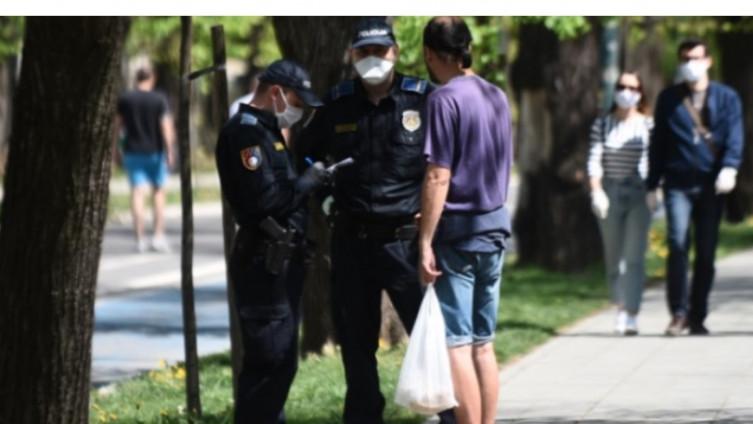 Sarajevo: Policija kažnjava građane koji nisu imali masku
