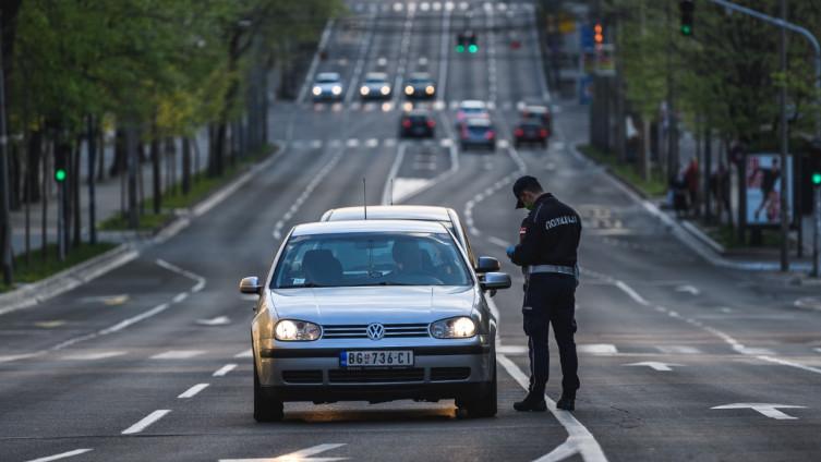 Policijska kontrola na ulicama glavnog grada Srbije  Beograda