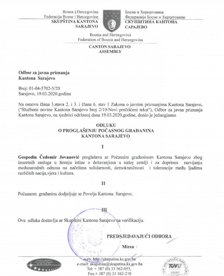 Odluka Skupštine KS - Avaz, Dnevni avaz, avaz.ba