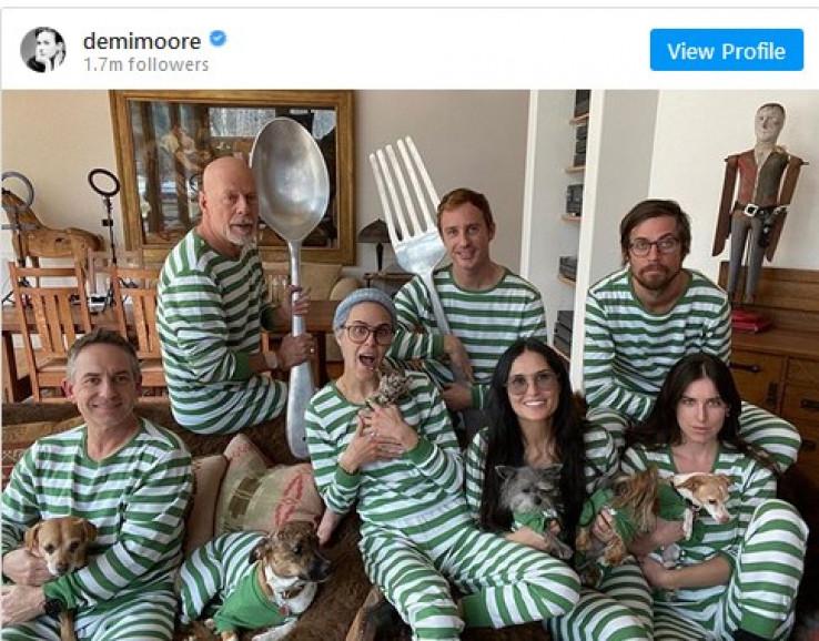 Brus se posvetio svojim starijim kćerkama, koje dijeli s Demi