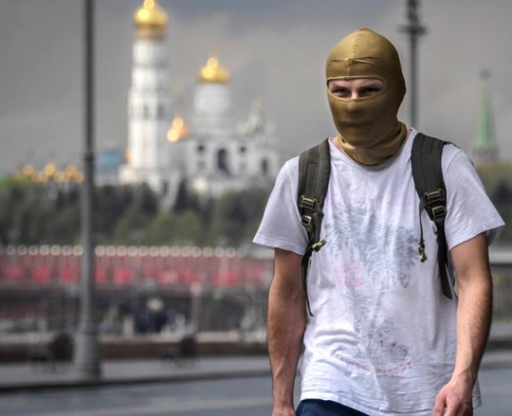 Muškarac u centru ruske prijestonice Moskve