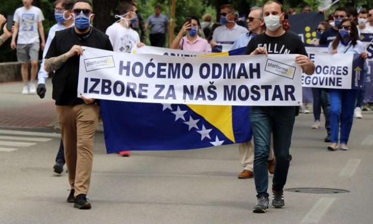 S protestne šetnje u Mostaru