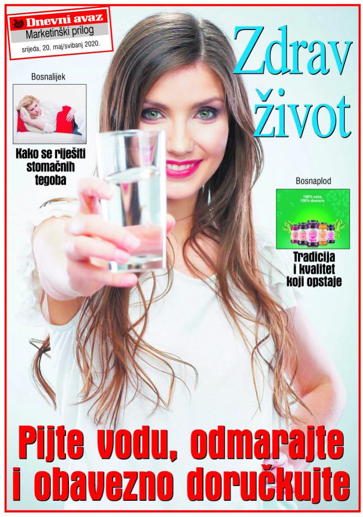 """Naslovna strana priloga """"Zdrav život"""""""