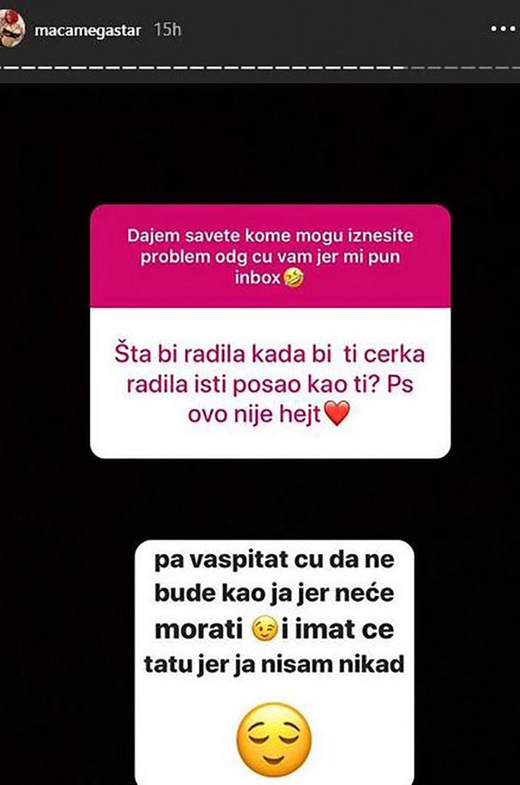 Nurkić je odgovorila i na pitanje kako bi reagovala kada bi kćerka krenula njenim stopama