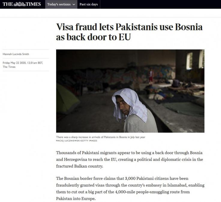 Objavljen tekst u uglednom The Timesu
