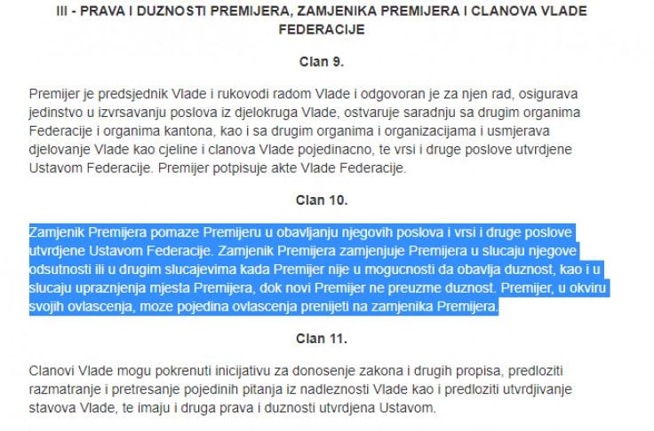 Zakon o Vladi FBiH - Avaz, Dnevni avaz, avaz.ba