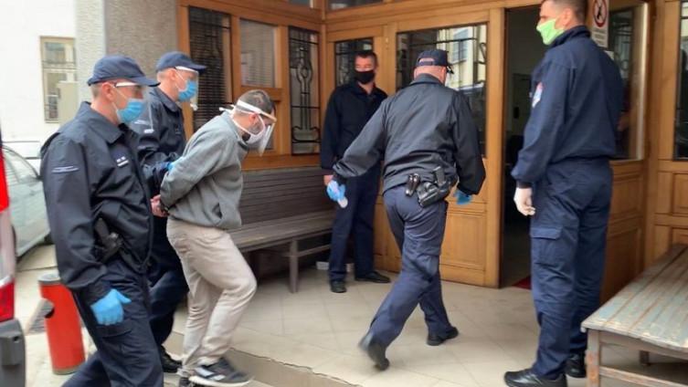 Jovanović prilikom dolaska u sud