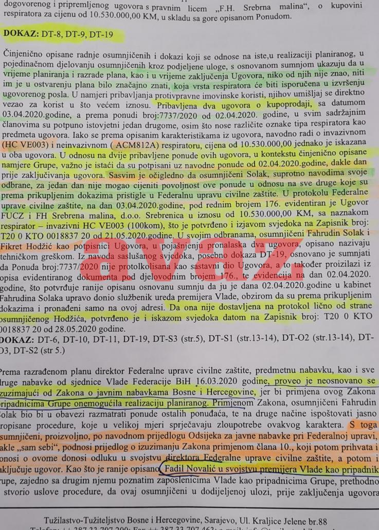 """Faksimil Tužilaštva BiH otkrio kako je za jedan dan izabrana """"Srebrena malina"""""""