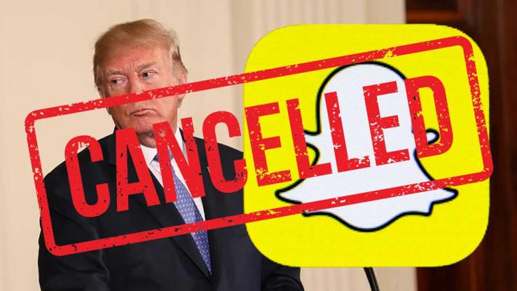 Društvena mreža Snapchat odlučila je da više ne promovira nalog američkog predsjednika