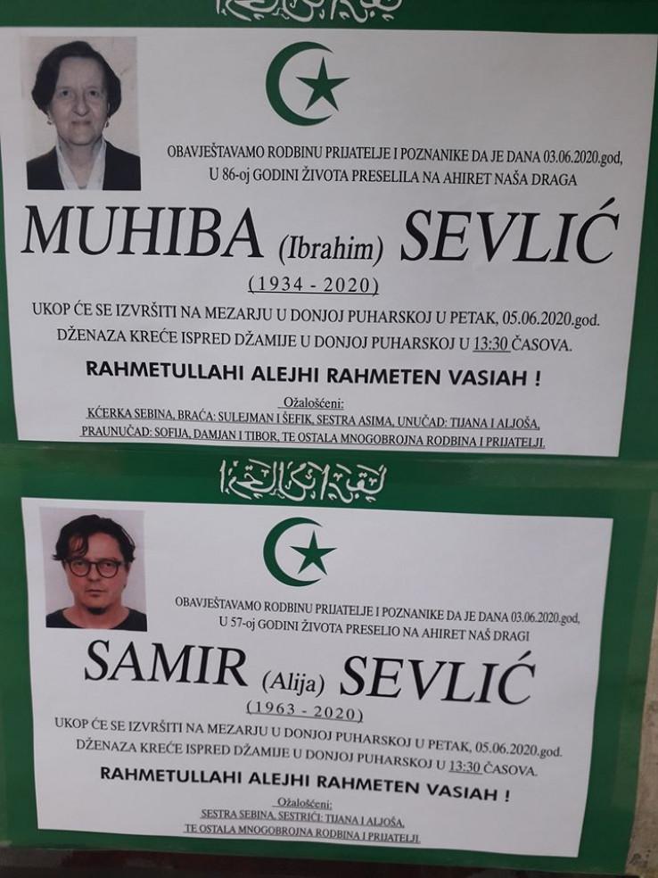 Prijedorčani se danas oprostili od Muhibe i Samira Selvića