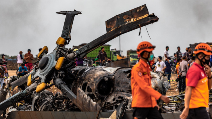 Helikopter se zapalio