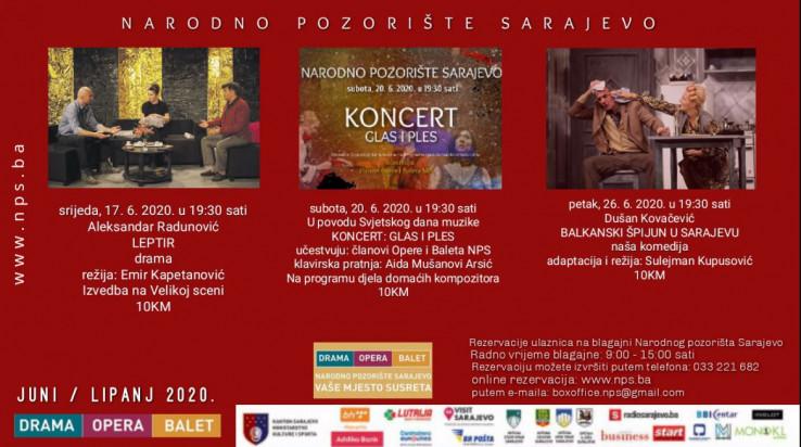 Repertoar Narodnog pozorišta Sarajevo