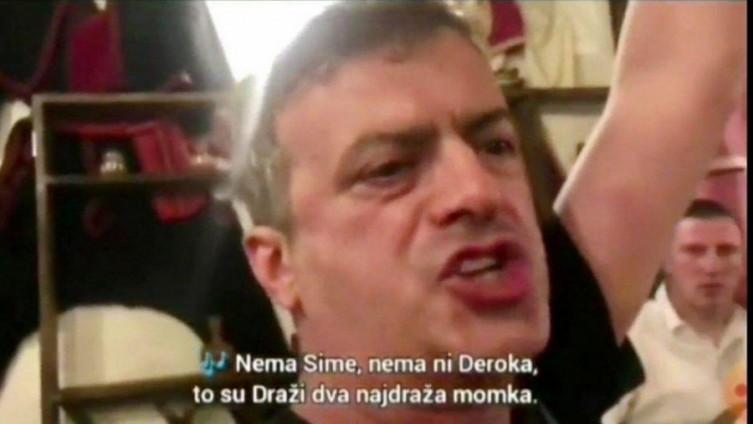 Trifunović: Pjeva četničke pjesme