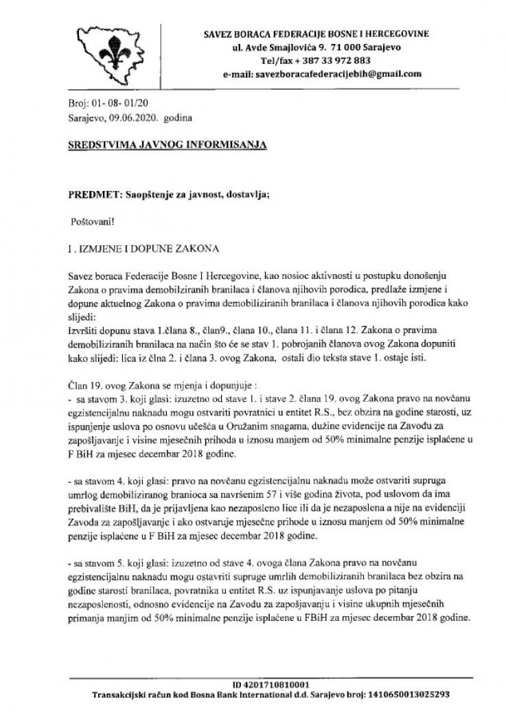 Faksimil prijedloga dostavljenog ministru Bukvareviću - Avaz, Dnevni avaz, avaz.ba