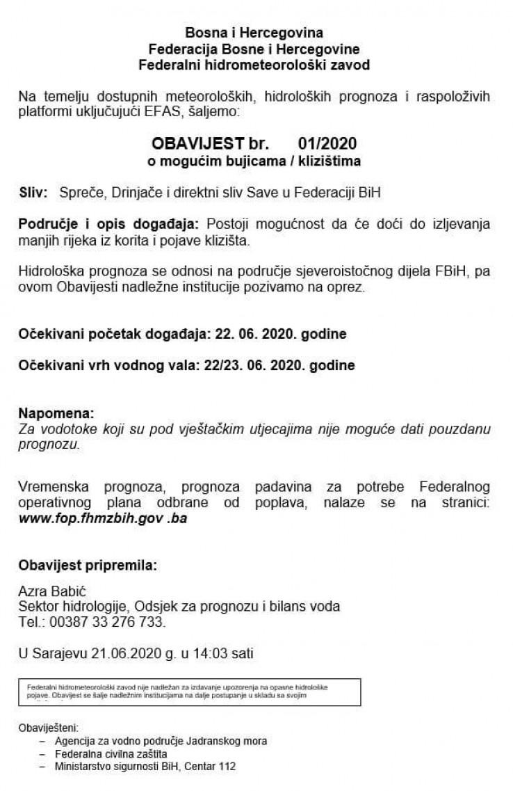 Obavijest Federalnog hidrometeorološkog zavoda - Avaz, Dnevni avaz, avaz.ba