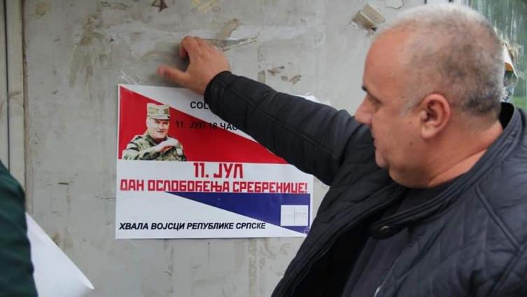 Sramni plakati ratnog zločinca Ratka Mladića
