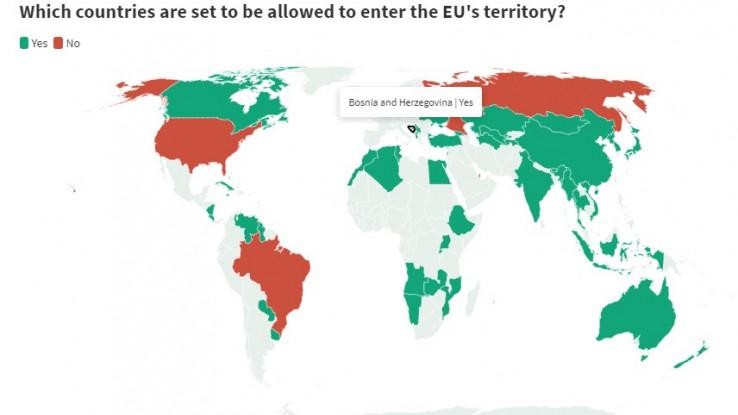 Karta: Države obojene zelenom bojom mogu ući u EU