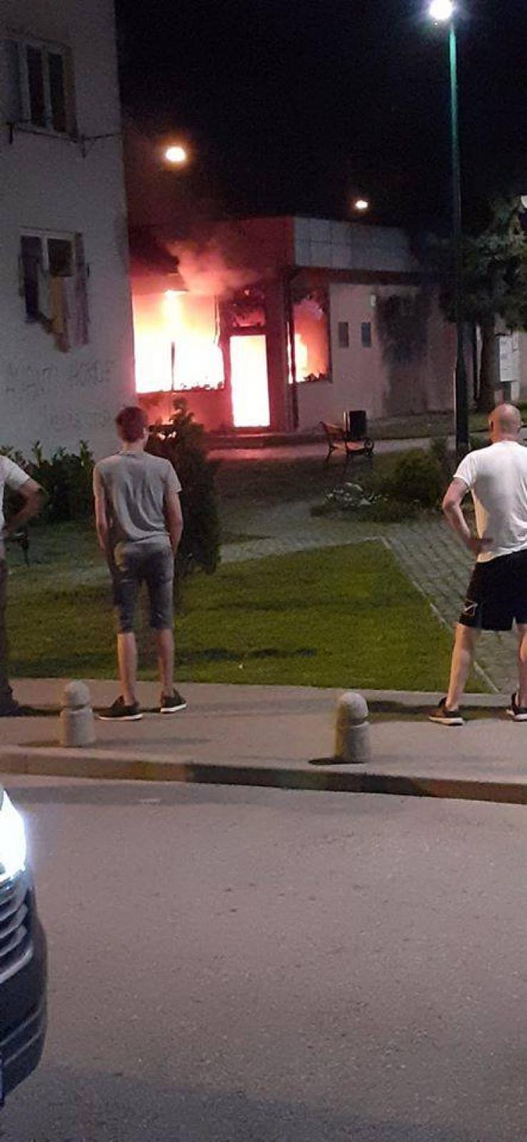 Požaru predhodila eksplozija