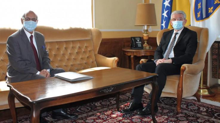 Džaferović s ambasadorom Pakistana