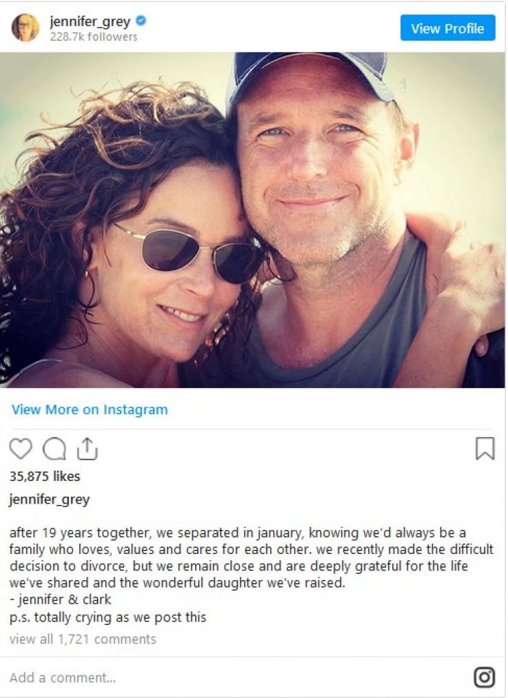 Objava Dženifer Grej na Instagramu