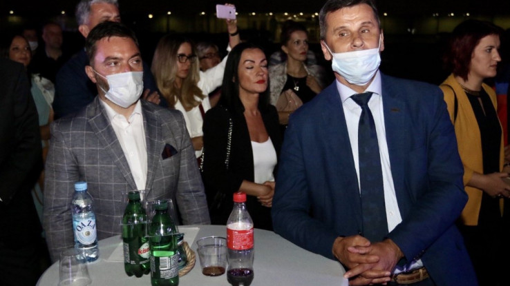Ministar vanjske trgovine i ekonomskih odnosa Staša Košarac i premijer FBiH Fadil Novalić tokom promocije