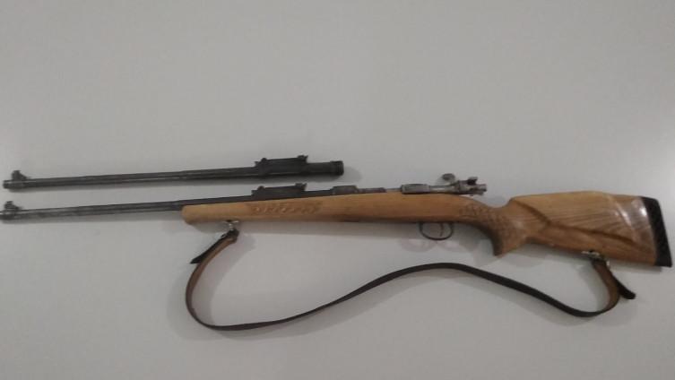 Puška koja je pronađena u vozilu Srbijanaca