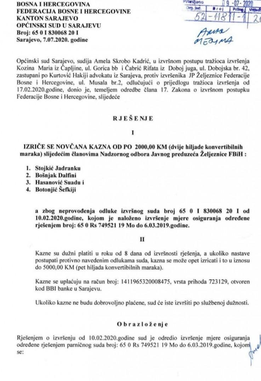 Komentar zakona o izvršnom postupku fbih