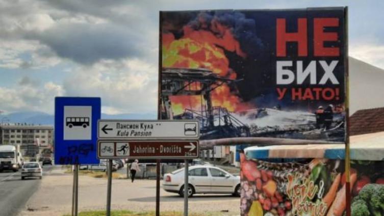 Bilbordi protiv ulaska BiH u NATO