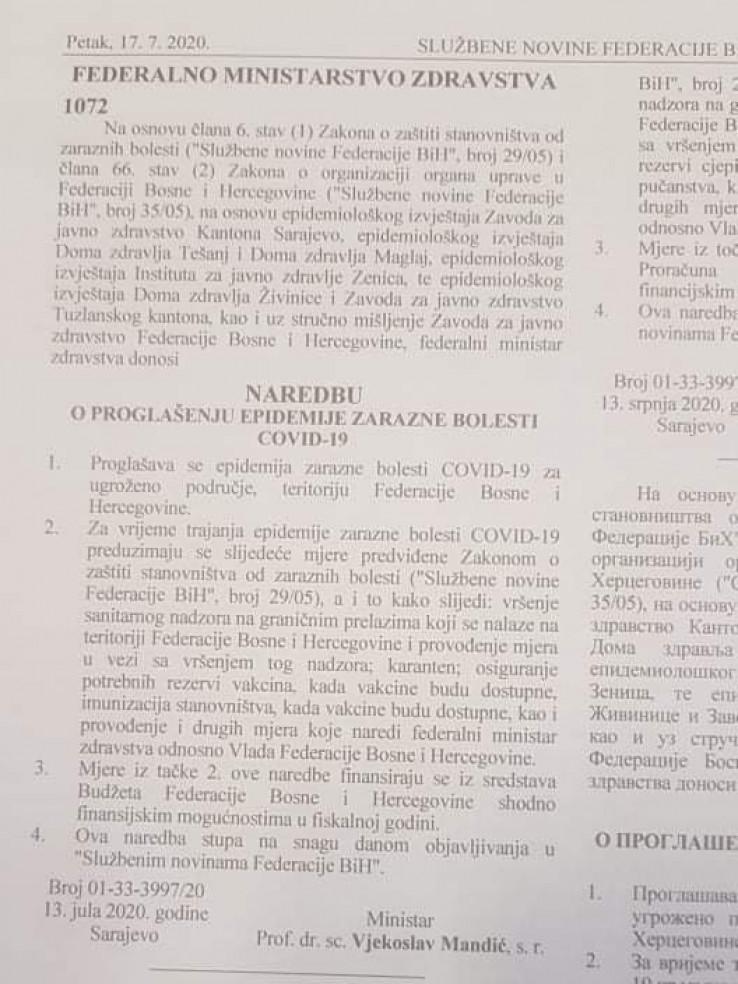 Faksimil naredbe - Avaz, Dnevni avaz, avaz.ba