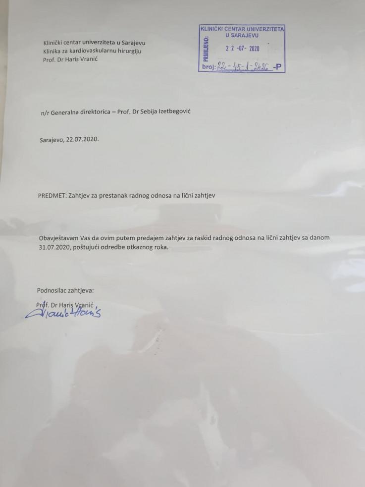 Faksimil ostavke Vranića