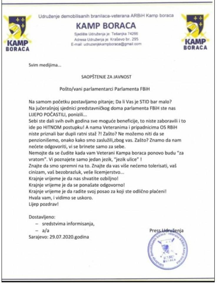 Pozivaju parlamentarce da se ponašaju odgovorno na poslu za koji su odlično plaćeni - Avaz, Dnevni avaz, avaz.ba