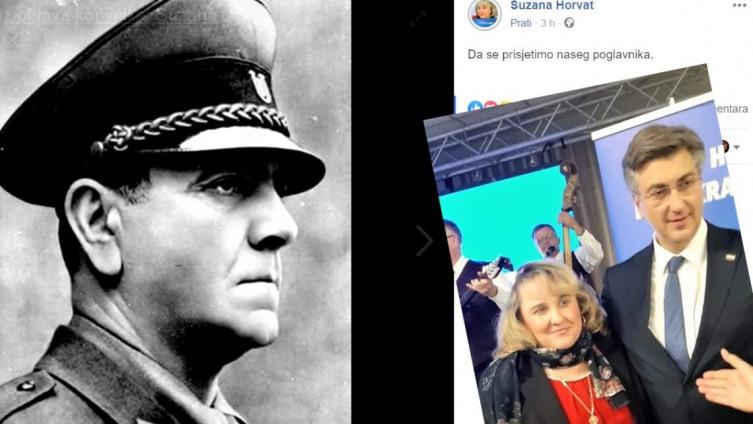 """Članica HDZ-a objavila fotografiju Pavelića uz poruku """"da se prisjetimo našeg poglavnika"""""""