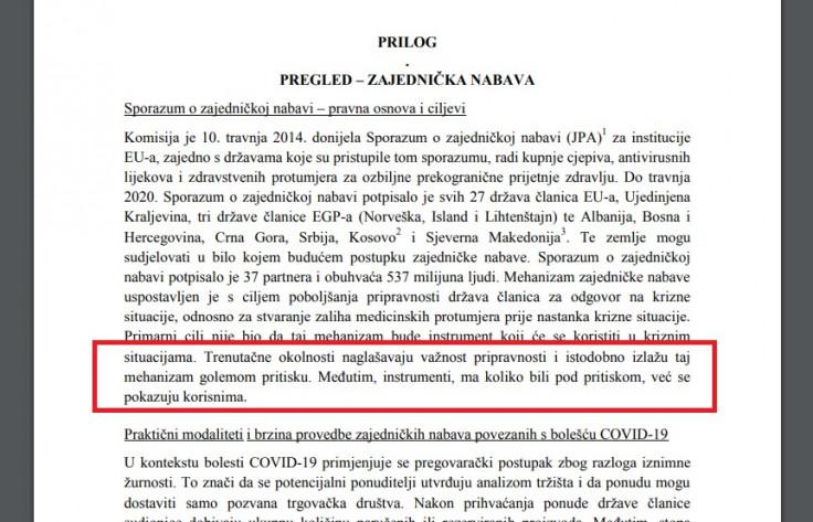 Dokument EU koji definira kako će se i kome dodjeljivati vakcine: Odgovornost je na državama