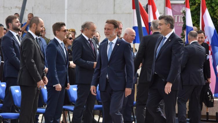Milošević sa državnim vrhom Hrvatske