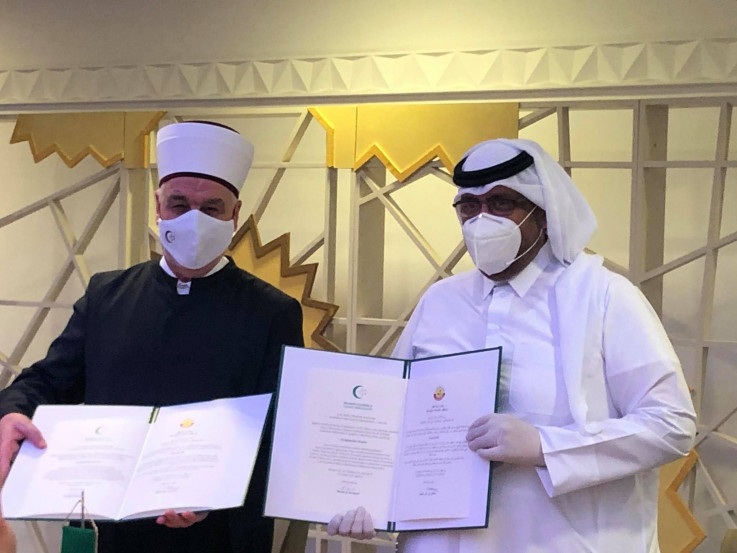 Husein Kavazović i Sultan Bin Ali Al-Khater