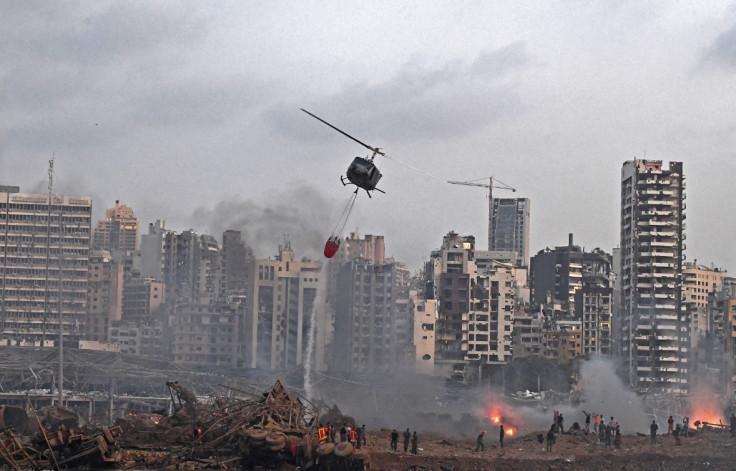 Helikopteri gase požar na mjestu eksplozije