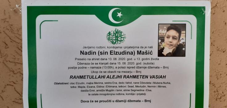 Nadin Mašić: Dječak preminuo u 13. godini