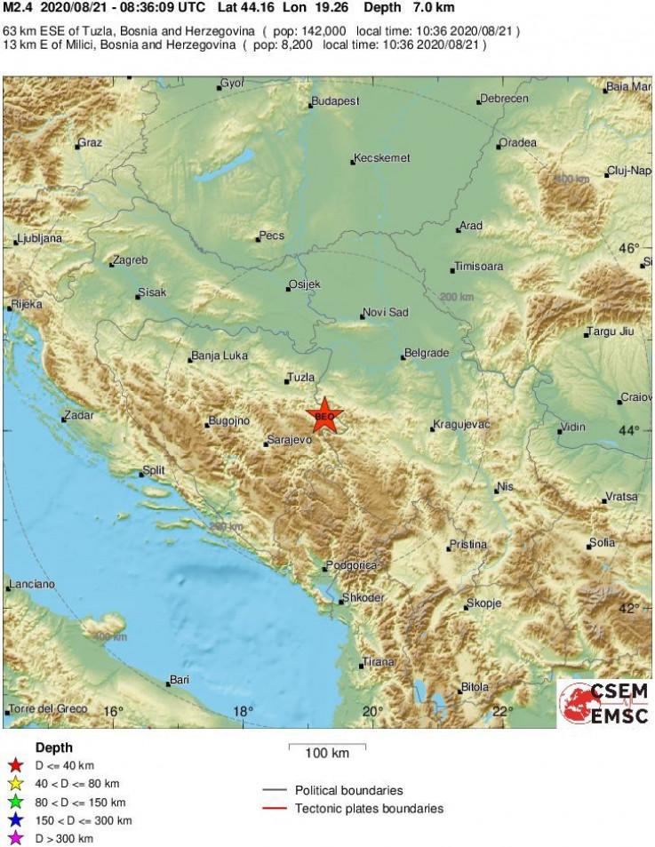 Novi zemljotres u Bosni i Hercegovini