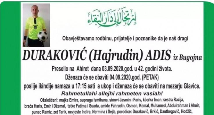 Adisu Durakoviću danas dženaza