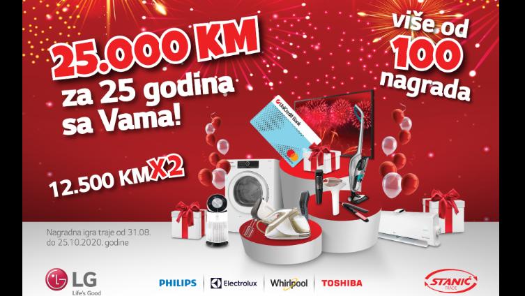 Velika nagradna igra – za samo 100 KM do 12.500 KM x 2 na poklon kartici banke uz Stanić-Trade