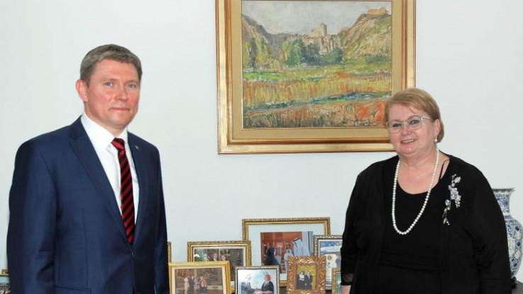 Turković razgovarala s otpravnikom poslova Ambasade Ukrajine u BiH Serhii Miniailom