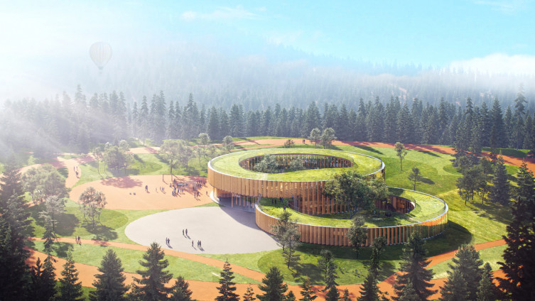 Svi potrebni prostori u školi su uklopljeni u dva prstena