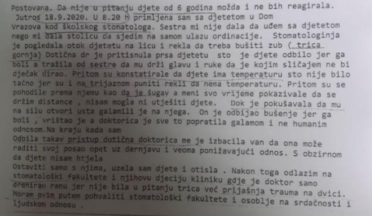 Pismo sarajevske majke
