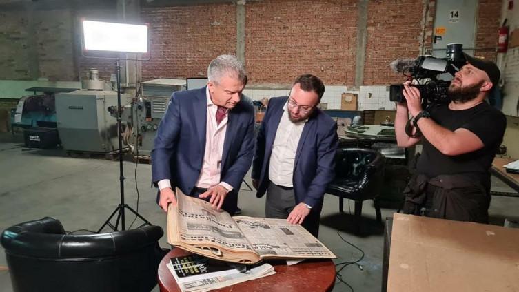 Radončić intervju dao u proizvodnoj hali