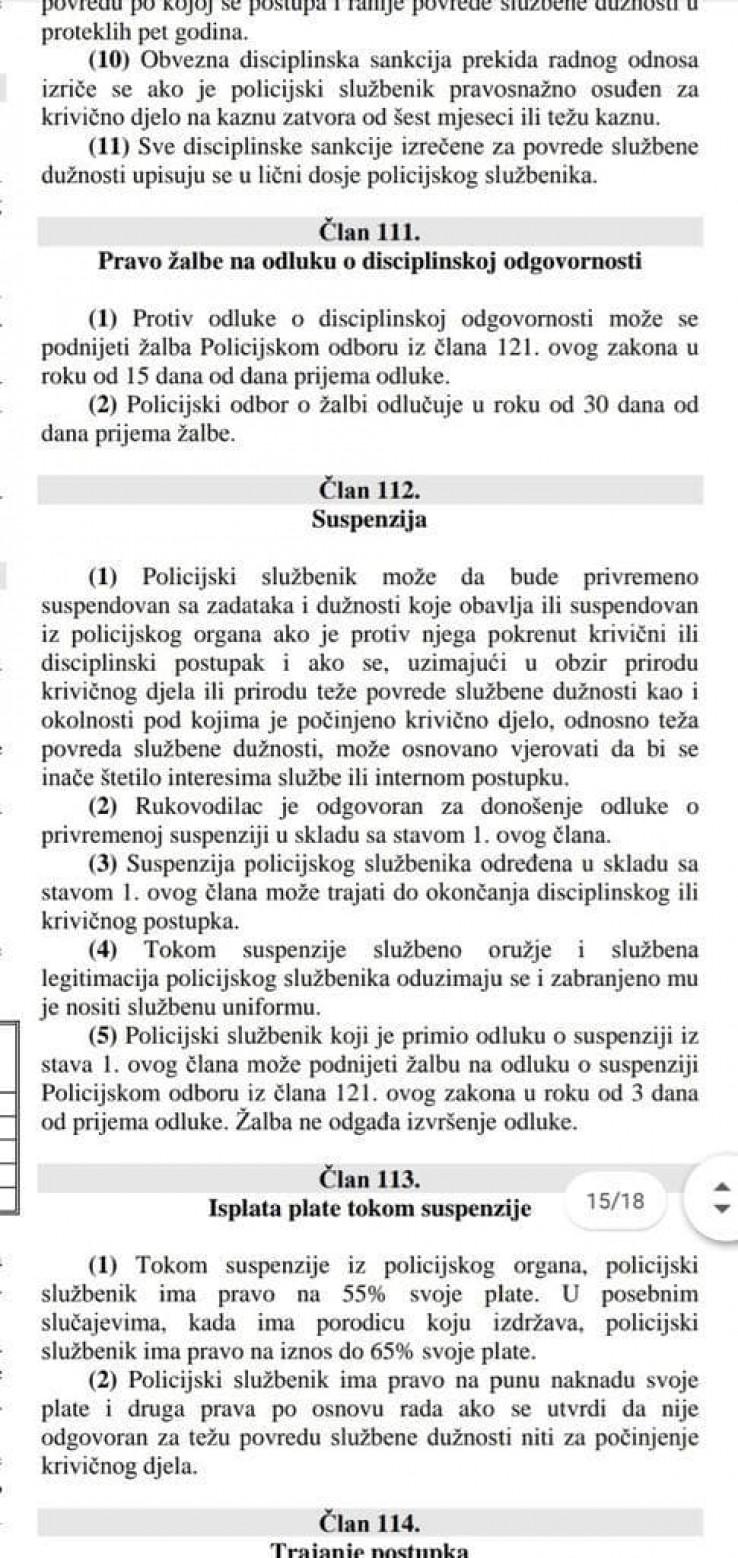 Član 112 Zakona